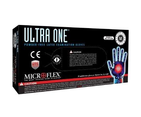 Microflex UL-315-XL Ultra One Powder-Free Latex Exam Gloves, Size: XL; 11.5 in. [pack of 50]