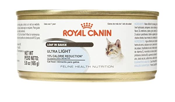 Amazon.com : Royal Canin Feline Health Nutrition Ultra Light Loaf - 24x5.8 oz : Pet Supplies