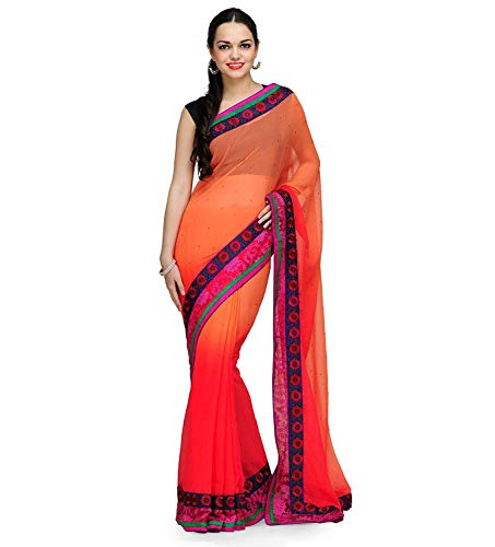 En Shaded Mousseline Faux Saree De Tulip Rose Soie qfBwCBtW