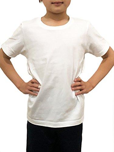 マラソン廃止する確認Azrte(アズルテ) Tシャツ 子供用 半袖 無地 キッズ 男の子 女の子 子供服 140~150センチ 丸首 uネック 子供 シャツ インナー