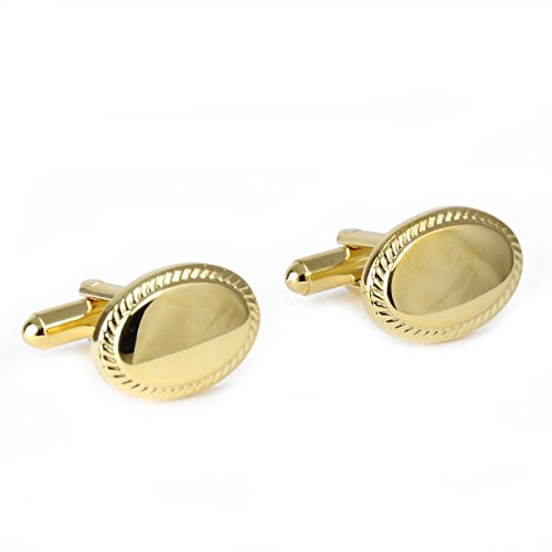 Oval 18KT Gold Vermeil Engravable Cufflinks