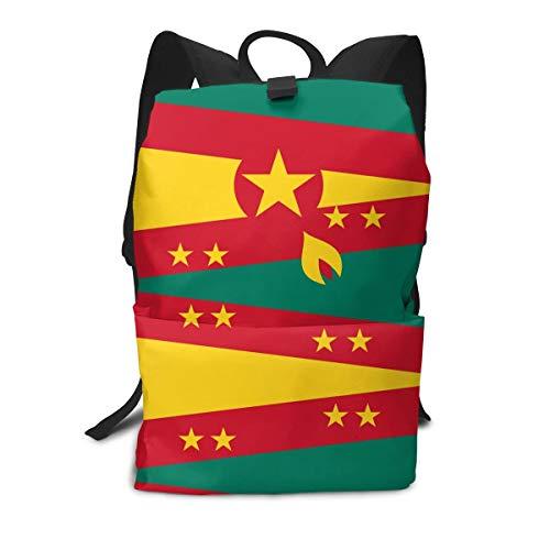 Originality Grenada Flag Lightweight School Backpack College Book Bags Travel Rucksack Fit 15 Inch Laptop