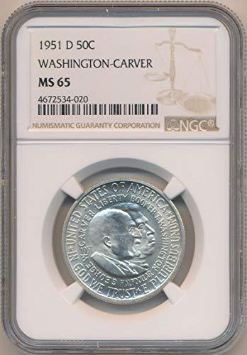 1951 D Half Dollar Washington Carver MS65 NGC ()