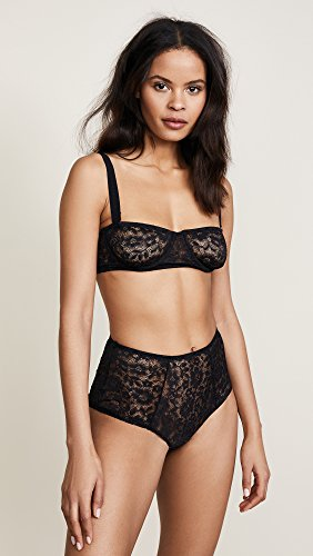 For Love & Lemons Women's Havana Demi Underwire Bra, Noir, Small by For Love & Lemons (Image #2)