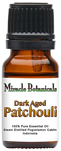 Miracle Botanicals Premium Dark Aged Patchouli Essential Oil - 100% Pure Pogostemon Cablin - 10ml and 30ml Sizes - Therapeutic Grade (Patchouli Dark Essential Oil)