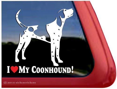 I Love My Coonhound!   Bluetick Coonhound Vinyl Dog Decal Auto Truck Tablet Laptop Sticker