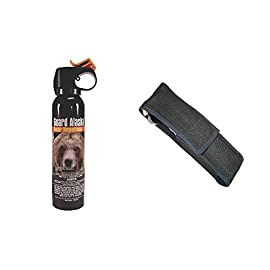 Guard Alaska Combo Pack! Bear Spray and Holster 6 <p>Guard Alaska ultra hot pepper spray has proven so effective repelling bears, it is the only one registered with the EPA as a repellent for ALL SPECIES of bears! This bear spray is perfect for campers and hunters and should be in every RV safety pack. When traveling to the different camp sites around the US, you never know what you will encounter. Some places have wild dogs and coyote while others have mountain lion and bear. The good thing about this bear spray is it will drive away all these creatures. It will also drive away two-leg predators if need be. It is absolutely the most effective and powerful bear defense spray available today. Only bear repellent registered with the EPA as a repellent for ALL SPECIES of bears - Environmentally safe - Does not contain flammable or ozone depleting substances Fogger delivery system to quickly engulf bear's face for maximum effectiveness Six years of intensive testing in Alaska wilds - Maximum strength 1.34% total capsaicinoid formula - 9 ounce (255 Grams) UltraMag shotgun size - E-Z Access Firemaster Actuator - 15-20 feet firing range - Releases full 9 ounces of protection in 9 seconds - 30-day money back guarantee Independent laboratory testing confirms some bear repellents significantly overstate their strength claim! Frontiersman® Bear Spray claimed Capsaicin content = 2.0%, ACTUAL Capsaicin content = 1.49. That's a variance of -32.5%! While Guard Alaska© delivers on their strength claim! Guard Alaska claimed Capsaicin content = 1.34%. Actual Capsaicin = 1.35%. That's a variance of +.07%! (Guard Alaska® Chromtec Independent Analysis - May 2013) Guard Alaska®... DELIVERS ON ITS STRENGTH CLAIM & IS THE ONLY EPA REGISTERED REPELLENT EFFECTIVE AGAINST ALL SPECIES OF BEARS!</p>