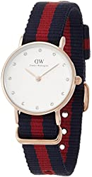 Daniel Wellington Women's 0905DW Oxford Stainless Steel Watch With Striped Nylon Band