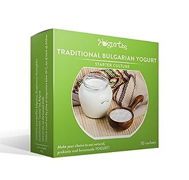El cultivo para preparar Tradicional Yogur Bulgaro en casa - para 10 litros Yogurt.bg: Amazon.es: Alimentación y bebidas