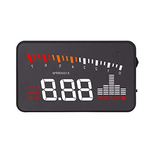 (X5 Speed Head up Display,Multifunction OBD II Car HUD Projector Speedometer Speeding Voltage Alarm Black)