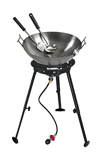 Eastman Outdoors 37212 Outdoor Gourmet 22 Inch Carbon Steel Wok Kit ()