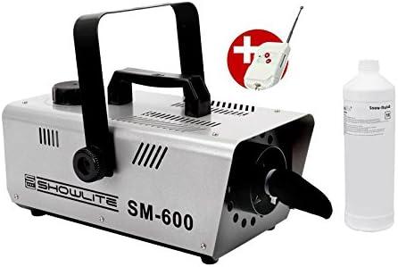 Set completo Showlite SM-600 maquina de hacer nieve 600W incl. mando distancia + 1l liquido nieve