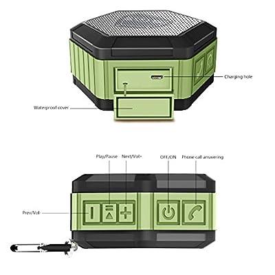 Zettaguard Portable Wireless Outdoor Shower Bluetooth Speaker with IP67 Waterproof Function (ZS100)