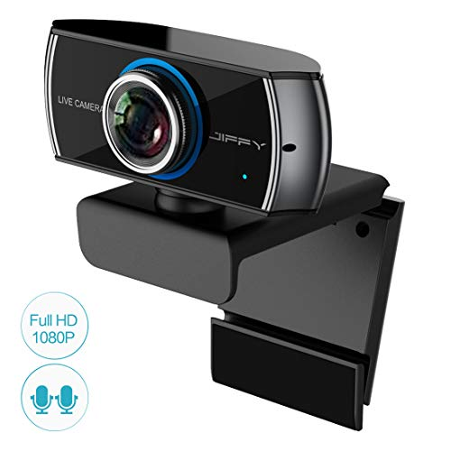 (JIFFY Full HD Digital Webcam 1080P / 1536P,Streaming Cam for Video Calling and Recording, Web Camera with Micophone for PC Mac Laptop Xbox One)