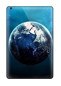 Tpu Fashionable Design Blue Earth Rugged Case Cover For Ipad Mini/mini 2 New