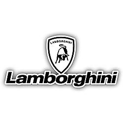 """Lamborghini Logo Auto Combo Car Bumper Sticker Decal 14"""" X 6.5"""""""