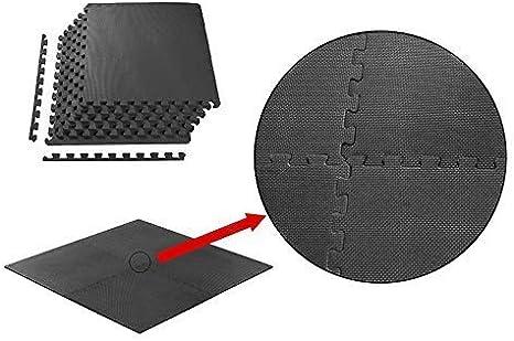 MQIAOHAM Esterilla Puzzle de Fitness-18 losas de EVA Espuma Alfombrilla Protecci/ón para el Suelo para m/áquinas de Deporte y gimnasios sobre el Piso F/ácil de Limpiar Beige Gris 110112