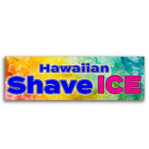 - Hawaiian Shave Ice Vinyl Banner 8 Feet Wide by 2.5 Feet Tall