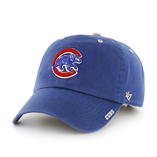 ('47 MLB Chicago Cubs Ice Clean Up Adjustable Hat, One Size, Royal)