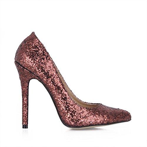 Talón Discotecas Sabor En Roja Alto Mujer Una Nuevo Puntos De Marrón Basándose Zapatos Tierra Brown Fine nqY468x