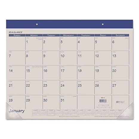 Amazon Com At A Glanceamp Reg Fashion Color Monthly Desk Pad