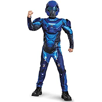 Amazon.com: Disfraz de Spartan Azul de Halo Microsoft ...