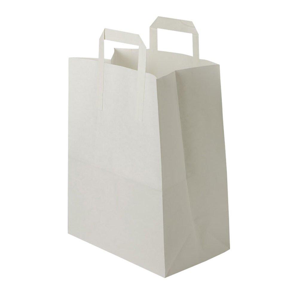 BIOZOYG 250x con Bolsa de Papel con 250x Base  18x8x22cm  70g  con Papel Reciclado  Blanco  Biodegradable, compostable  reciclable  Resistente  Capacidad de Carga  sin impresión a9c353