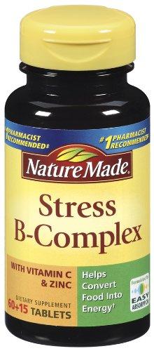 Nature Made Complexe B avec le stress comprimés de zinc, 75 comte