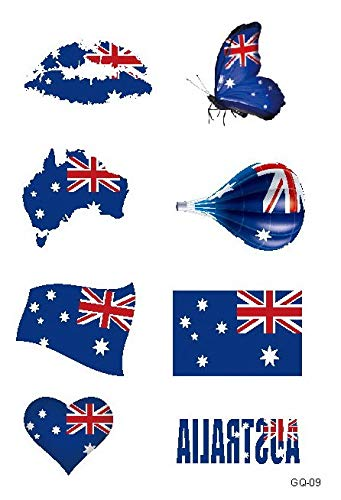 Buy Generic 21 15cm Tattoo Set Football Games Tattoo Sticker Flag Brazil Germany Uk Russia Temporary Lip Face Body 3d Designs Hot Australia Online At Low Prices In India Amazon In