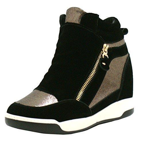 SHU CRAZY Zapatillas Altas Mujer, Color Negro, Talla 36.5: Amazon.es: Zapatos y complementos