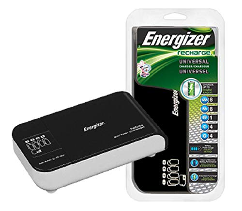 Charger Rechargeable Energizer - Energizer Recharge Universal Charger charges 8 AA/AAA, 4 C/D or 1 9V NiMH Batteries