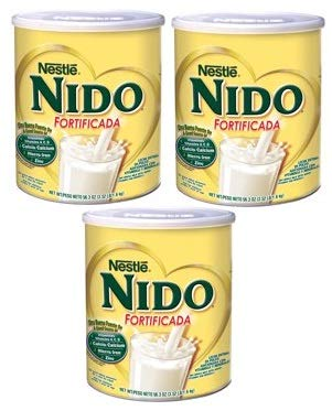 Nestle NIDO Fortificada Whole Milk Powder 56.3 oz. Canister, Powdered Milk Mix (Pack of 3)