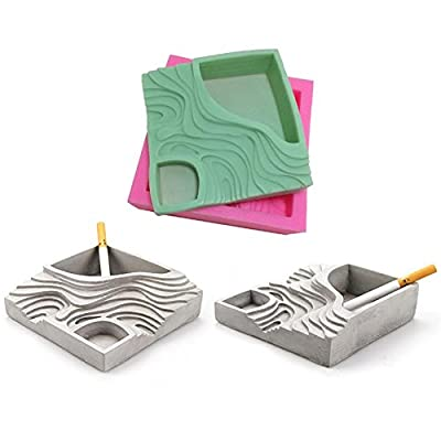 Succulent Plant Flower Pot Silicone Mold Gypsum Cement Fleshy Flower Bonsai DIY Ashtray Candle Holder Mould for Indoor Outdoor Home Decor : Garden & Outdoor