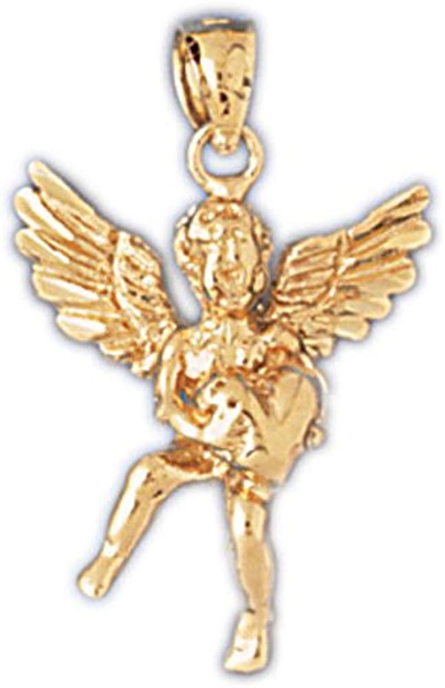 14k Yellow Gold Angel 3-D Pendant