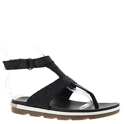 White 10 Sandal SOREL Women's Black Torpeda Strap Ankle PnPYqa