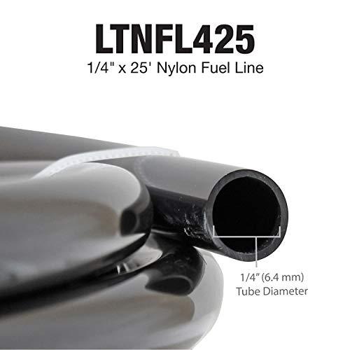 1/4 x 25ft Nylon Fuel Line - Exceeds all O.E. Specs - OD.25/200 PSI B.P. ()