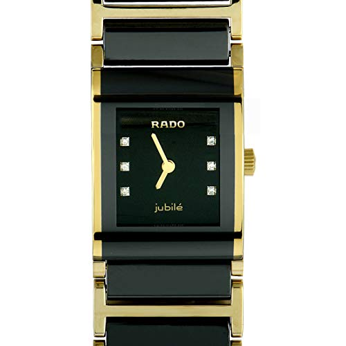 - Rado Women's R20789752 Integral Black Dial Ceramic Bracelet Watch