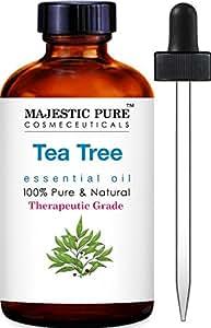 Majestic Pure Tea Tree Essential Oil, 100% Pure and Natural with Therapeutic Grade, Premium Quality Tea Tree Oil 1 fl. Oz