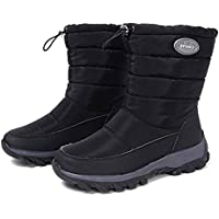 SODIAL Women Winter Boots Non-Slip Waterproof Snow Boots Women Thick Plush Ankle Boots for -40 Degrees Brown 39 Yards