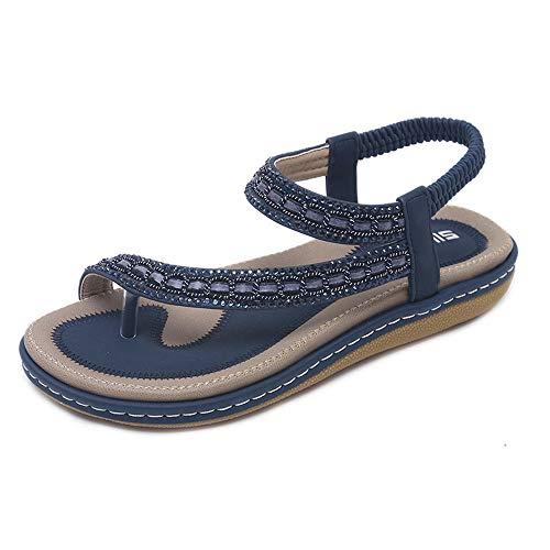 di Grandi da Donna Piatti Blue Dimensioni Sandali Estivi y4XqPcgWI