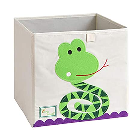 Pig 13 Inch Cartoon Toy Bin Foldable Storage Cube Box Eco Friendly Fabric Toy Storage Cubes Organizer for Kids Toy Chest