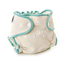 Bumkins Fitted Diapers, Natural, Small