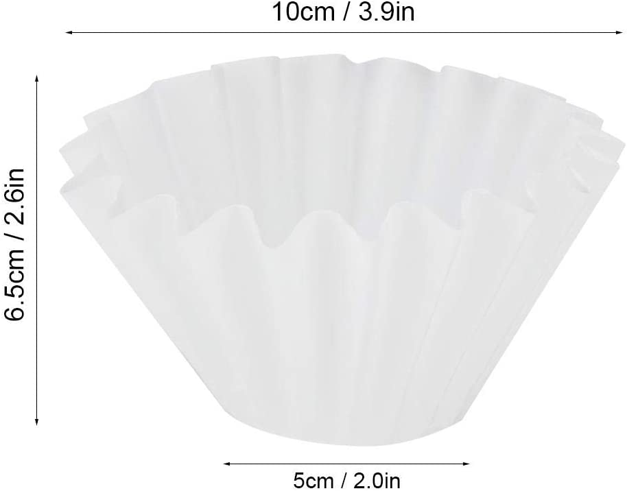 50Pcs Coffee Filters Shaped Wavy Disposable Coffee Filter Paper Cup Basket Replacement for Coffee Making
