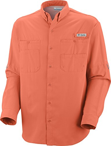Columbia Men's Plus Tamiami Ii Long Sleeve Shirt (Bright Peach 01, XX-Large) (01 Peach Blossom)