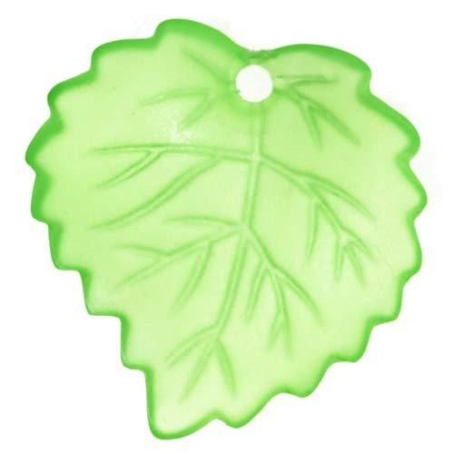 Beadaholique Lucite Aspen Leaves Bright Peridot Green Light Weight 16mm (Aspen Leaf Beads)