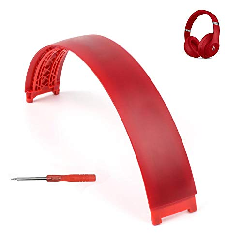 (Studio 3 Wireless Headband Replacement Arch Plastic Head Band Repair Parts Compatible with Studio 3 Wireless Headphones (Red))