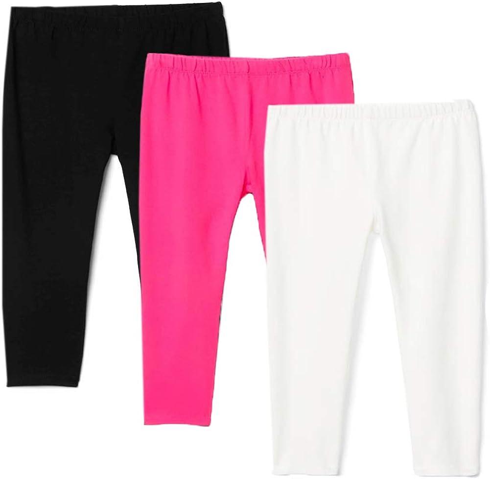 Black//White//Grey,2T Felix /& Flora Toddler Girls Black White Leggings Pack Baby Girls Cotton School Leggings