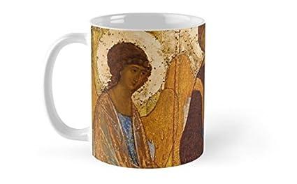 Shopsmeade Holy Trinity Icon Christian Religious Wall Art Mug With Electronic Education Record AR Gift Card