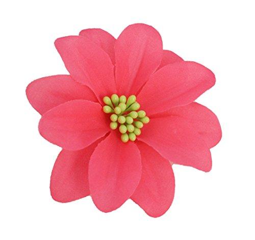 MIA Flower Hair Clip/Pin-Bright Pink Colored Flower Hair Clip 3