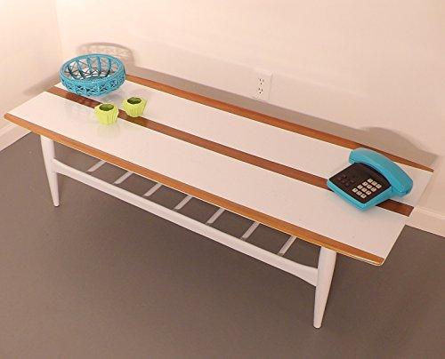 Painted Blue Nightstands End Tables MCM Bedroom